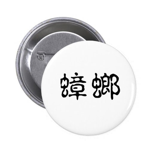 Chinese Symbol for cockroach Pinback Button