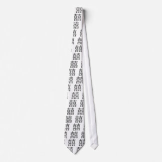Chinese Symbol for double happiness Neck Tie