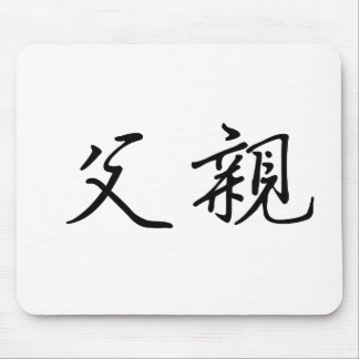 Chinese Symbol for father Mouse Mats
