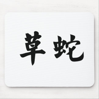 Chinese Symbol for grass snake Mouse Pad