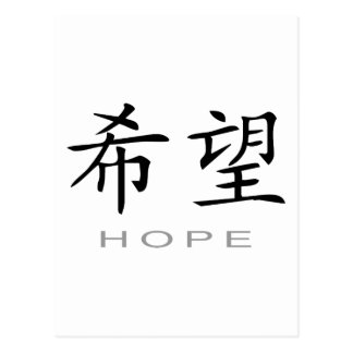 Chinese Symbol for Hope Postcard