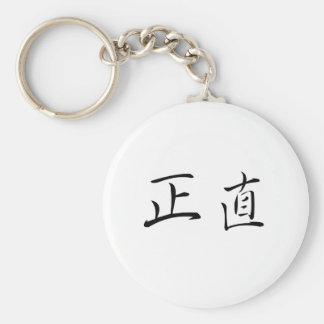 Chinese Symbol for integrity Keychain