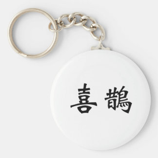 Chinese Symbol for magpie Basic Round Button Keychain