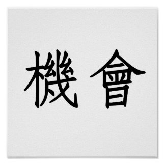 Chinese Symbol for opportunity Poster