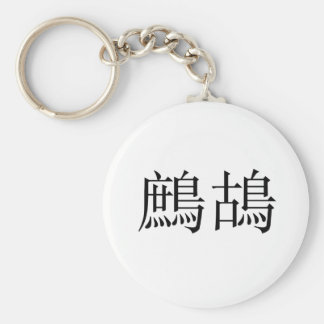 Chinese Symbol for partridge Keychain