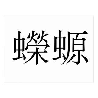 Chinese Symbol for salamander, newt Postcard