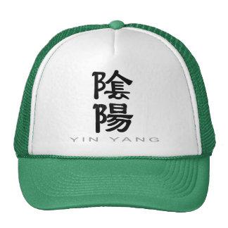 Chinese Symbol for Yin Yang Mesh Hat