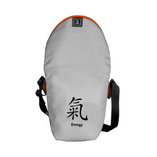 "Chinese Symbol of ""Energy"" Messenger Bag"