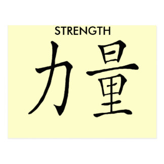 CHINESE SYMBOL STRENGTH POSTCARDS