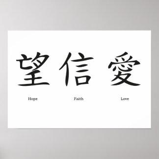 'Chinese symbols'  poster