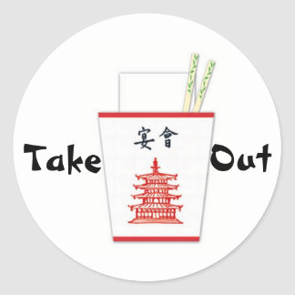 Chinese Take Out Classic Round Sticker