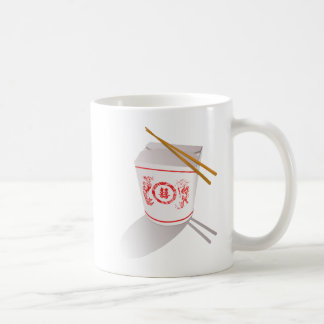 Chinese Take Out Food Box with Chopsticks Coffee Mug