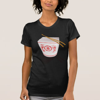 Chinese Take Out Food Box with Chopsticks T-Shirt