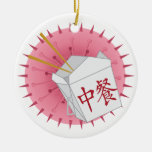 Chinese Take Out - SRF Double-Sided Ceramic Round Christmas Ornament