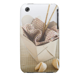 Chinese takeout container and fortune cookies iPhone 3 cover