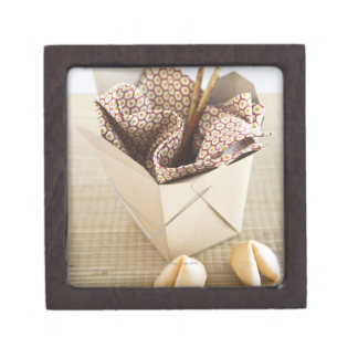 Chinese takeout container and fortune cookies premium jewelry boxes