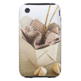 Chinese takeout container and fortune cookies tough iPhone 3 cases