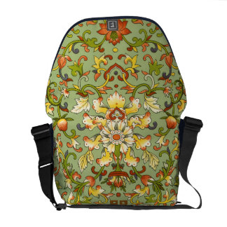 Chinese Tapestry Jade Floral Elegance Commuter Bags