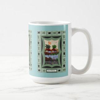 Chinese Tapestry of a waterside scene Coffee Mug