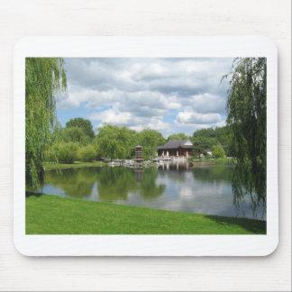 Chinese Tea Pavilion near the lake Mouse Pad