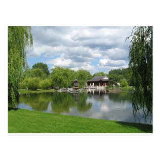 Chinese Tea Pavilion near the lake Post Card