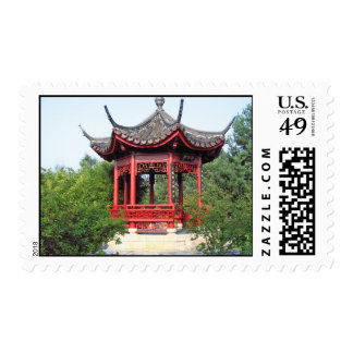 Chinese Teahouse Stamp