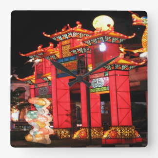 Chinese temple square wall clocks