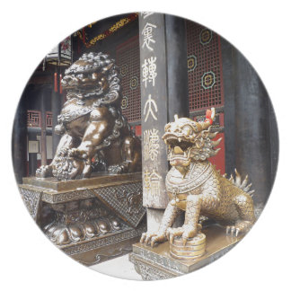 Chinese Temple Dinner Plate