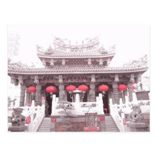 Chinese Temple in Yokohama Japan Postcard