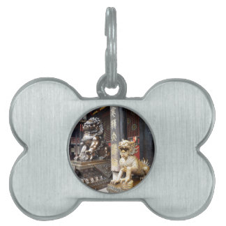 Chinese Temple Pet Name Tag