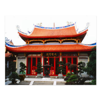 Chinese temple postcard