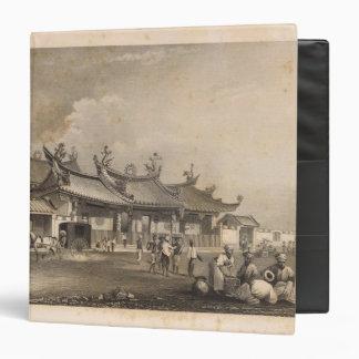 Chinese Temple, Singapore 3 Ring Binder