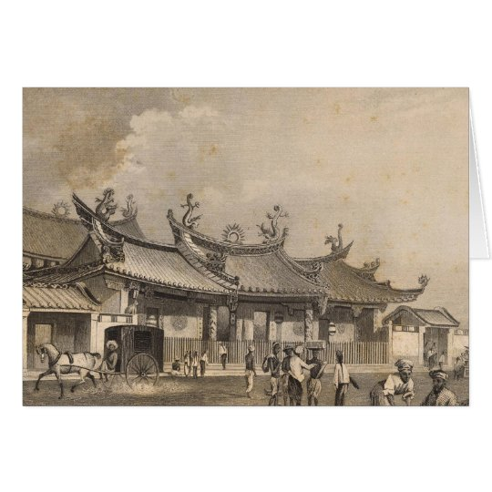 Chinese Temple, Singapore Card