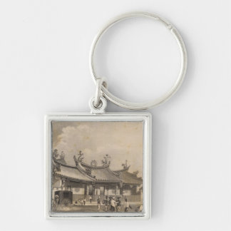 Chinese Temple, Singapore Keychain