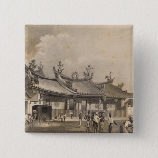 Chinese Temple, Singapore Pinback Button