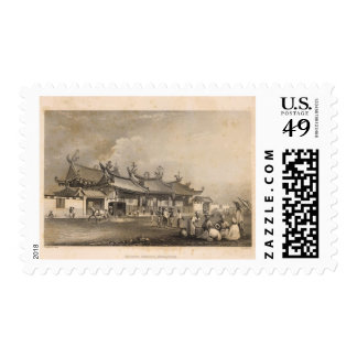 Chinese Temple, Singapore Postage