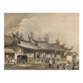 Chinese Temple, Singapore Postcard