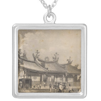 Chinese Temple, Singapore Silver Plated Necklace