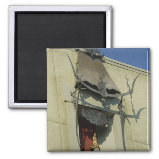 Chinese theater photo 2 inch square magnet