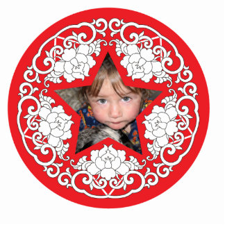 Chinese Theme Christmas Personalized Ornament Cut Outs