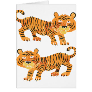 chinese tiger. card