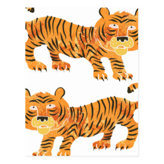 chinese tiger. postcard