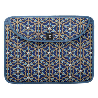 Chinese tiled floral pattern MacBook pro sleeve