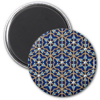 Chinese tiled floral pattern magnet