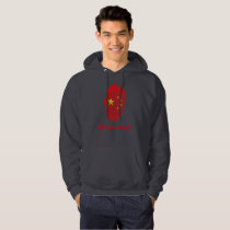 Chinese touch fingerprint flag hoodie