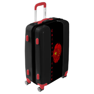 Chinese touch fingerprint flag luggage