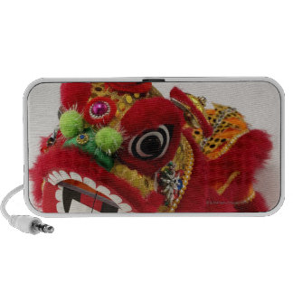 Chinese toy dragon on white background travelling speakers