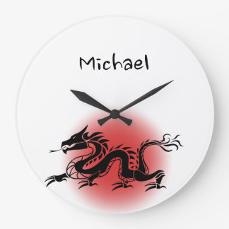 Chinese traditional dragon name large clock