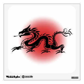 Chinese traditional dragon wall decal