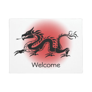 Chinese traditional dragon welcome doormat